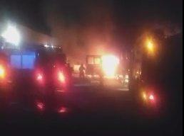 В автопарку в Сумах горять автобуси