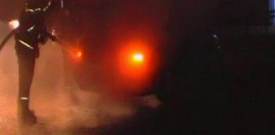Вночі у Сумах горіли дві автівки