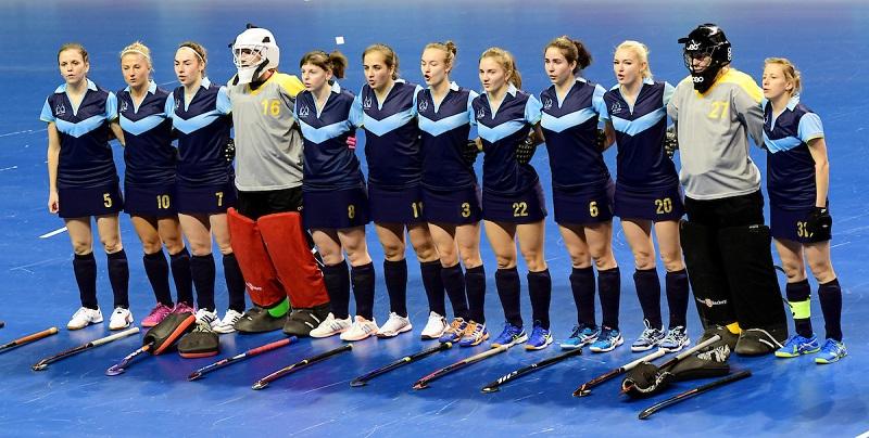 BERLIN - Indoor Hockey World Cup Women: Ukraine - Australia foto: Ukraine WORLDSPORTPICS COPYRIGHT FRANK UIJLENBROEK