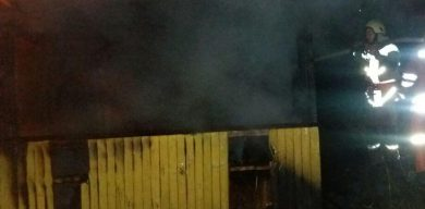 На центральному пляжі в Сумах сталася пожежа (фото)