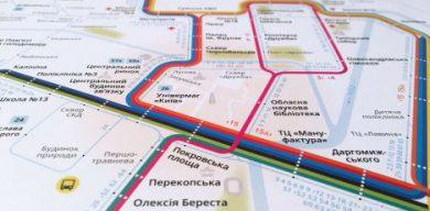Киевский дизайнер нарисовал транспортную схему для Сум