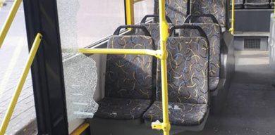 У Сумах буйний пасажир-«заєць» хотів побити контролера і розтрощив скло у тролейбусі
